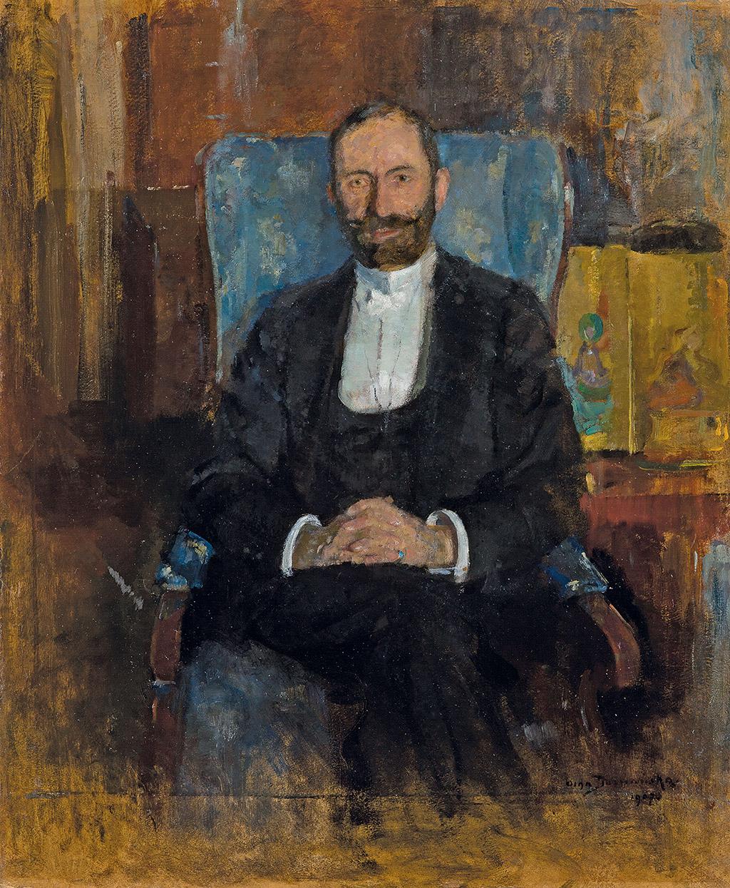 """Olga Boznańska """"Feliksa Jasieńskiego 'Mangghi'"""", 1907 rok, źródło: Muzeum Narodowe w Krakowie"""