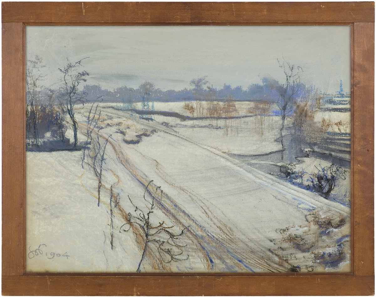 Pastel Stanisława Wyspiańskiego w prostej, dębowej ramie, źródło: Agra-Art