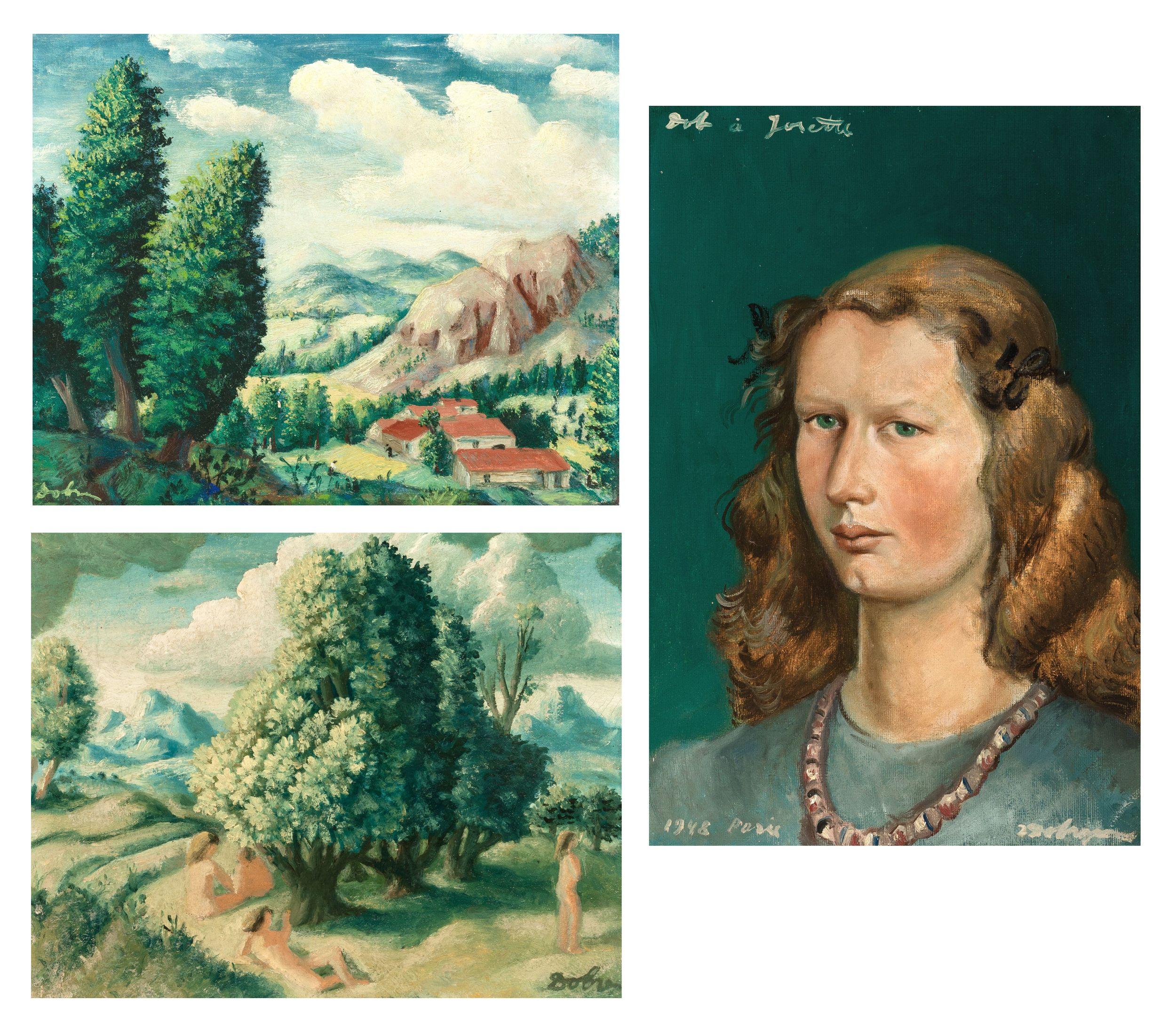 Zygmunt Dobrzycki (1896-1970) Zestaw 3 prac, źródło: De Vuyst