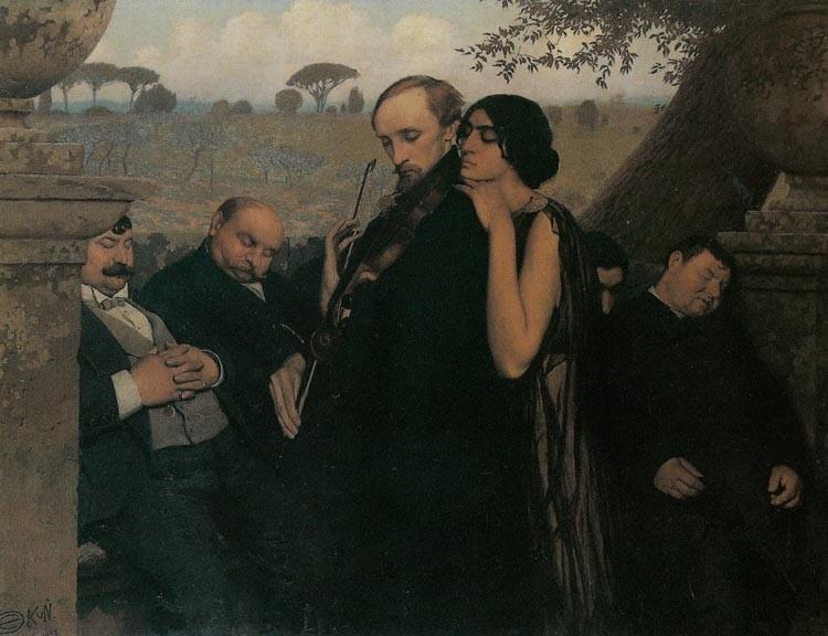 """Edward Okuń, """"Filistrzy"""", 1904, źródło: Lwowska Galeria Sztuki"""
