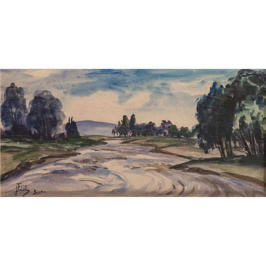 "Julian Fałat (1853-1929) ""Bystra"", źródło: Cowan's Auctions"