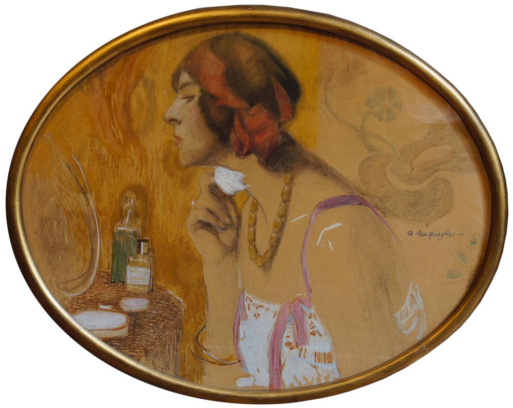 Obraz Alfonsa Karpińskiego w owalnej ramie, źródło: Salon Dzieł Sztuki Connaisseur