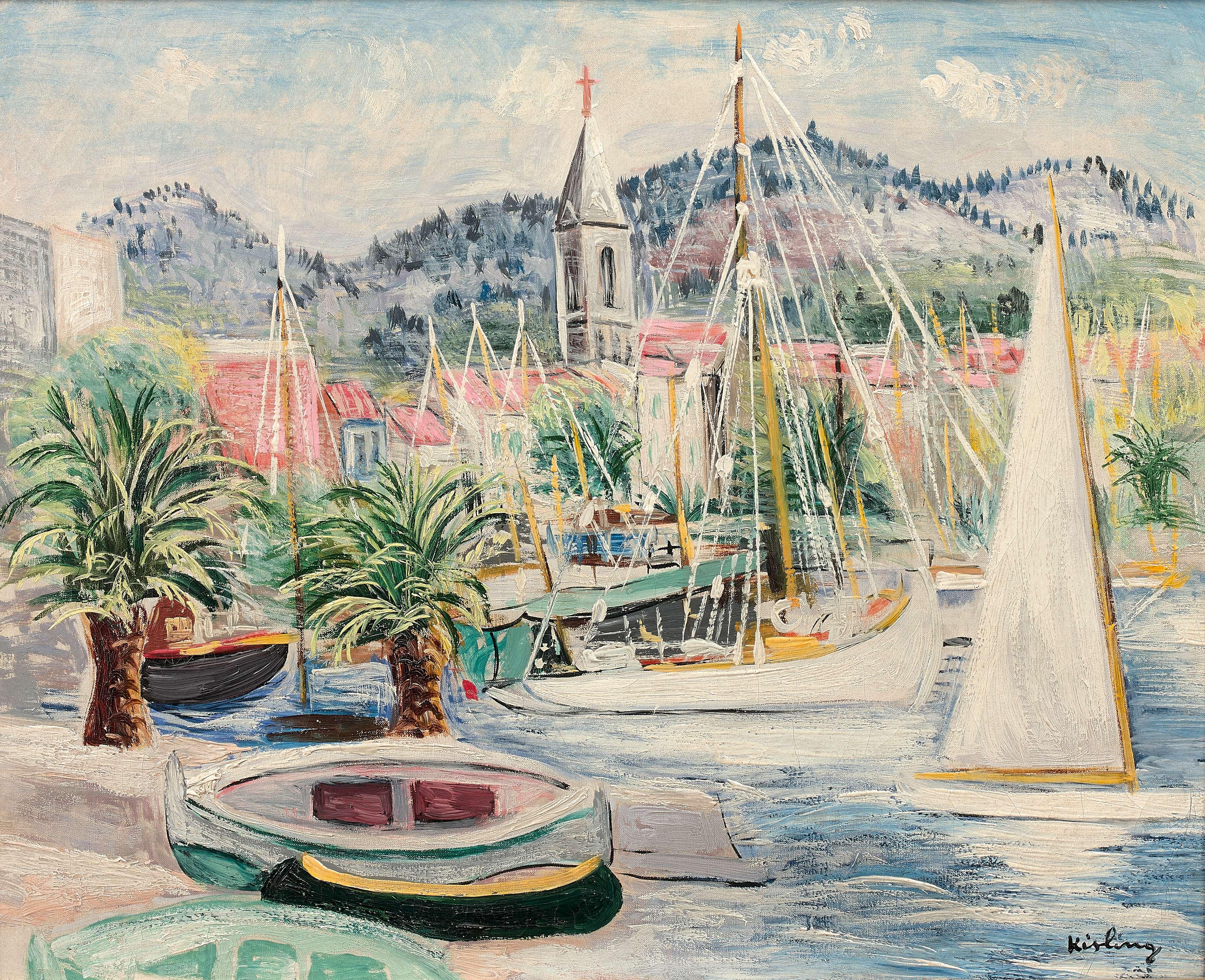 """Mojżesz Kisling (1891-1953) """"Port w Bandol"""", źródło: Artcurial"""