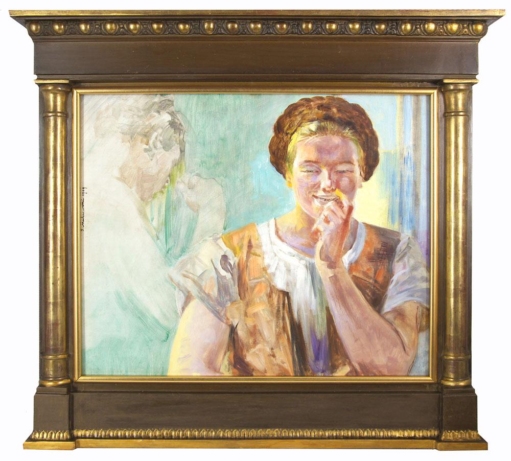 Praca Jacka Malczewskiego w ramie kolumnowej, źródło: Salon Dzieł Sztuki Connaisseur