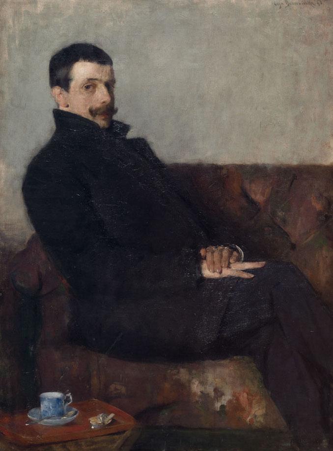 """Olga Boznańska """"Portret Pawła Nauena"""", 1893 rok, źródło: Muzeum Narodowe w Krakowie"""