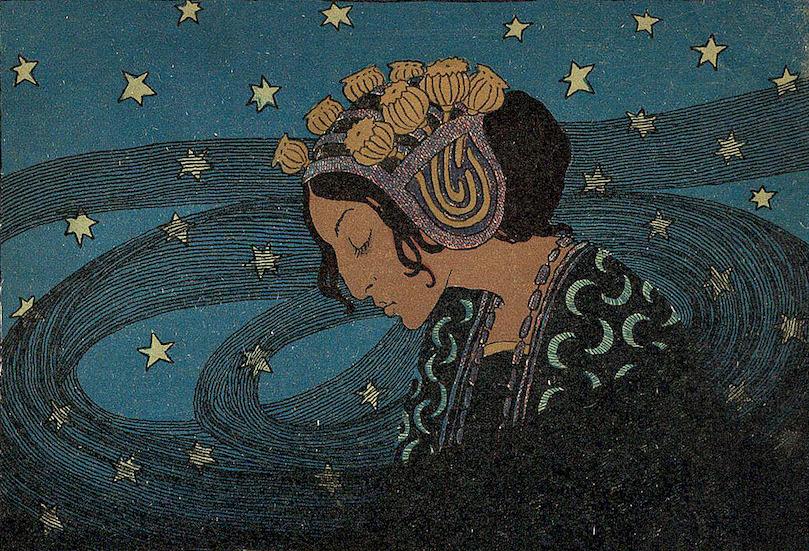 """Edward Okuń, """"Noc"""", 1903 rok, okładka czasopisma """"Chimera"""""""