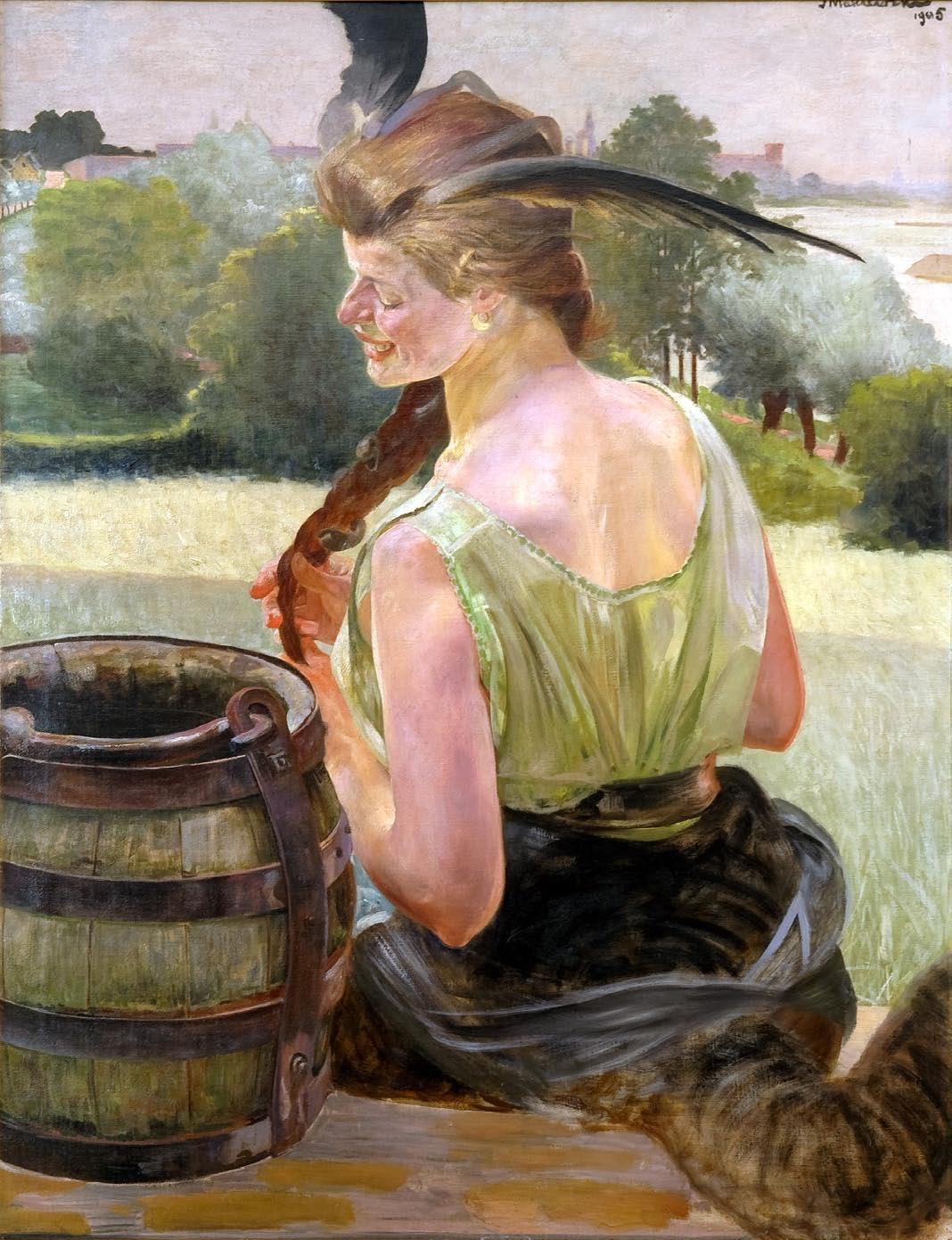 """Jacek Malczewski """"Zatruta studnia z chimerą"""", 1905 rok, źródło: Muzeum Okręgowe w Radomiu"""