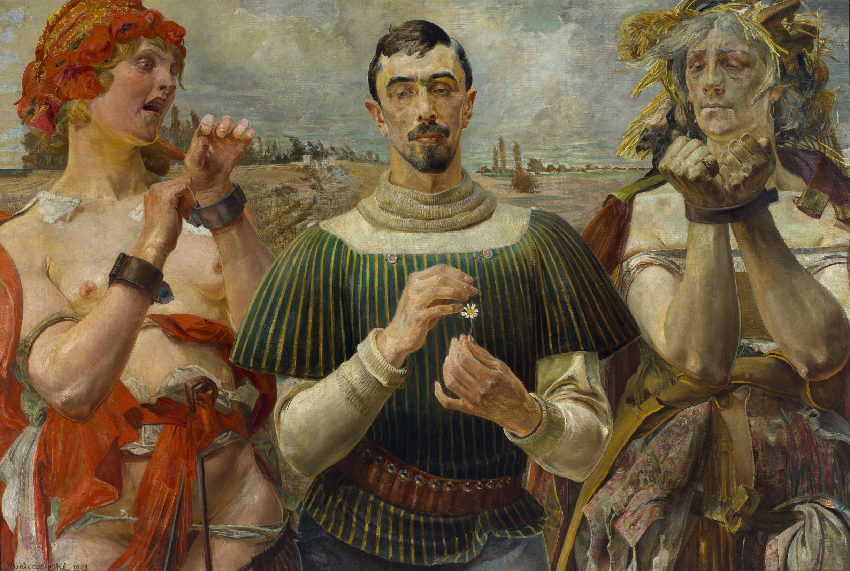 """Jacek Malczewski """"Hamlet polski - Portret Aleksandra Wielopolskiego"""", 1903 rok, źródło: Muzeum Narodowe w Warszawie"""