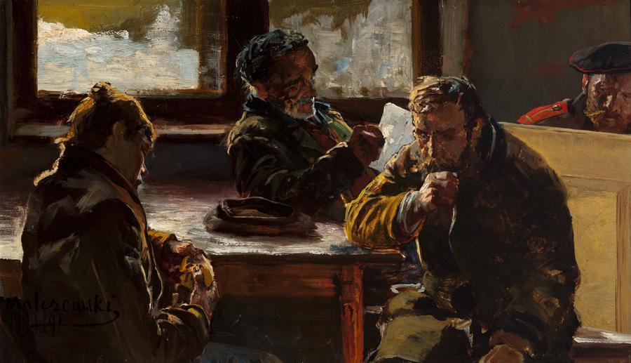 """Jacek Malczewski """"Sybiracy"""", 1891 rok, źródło: Muzeum Narodowe w Krakowie"""