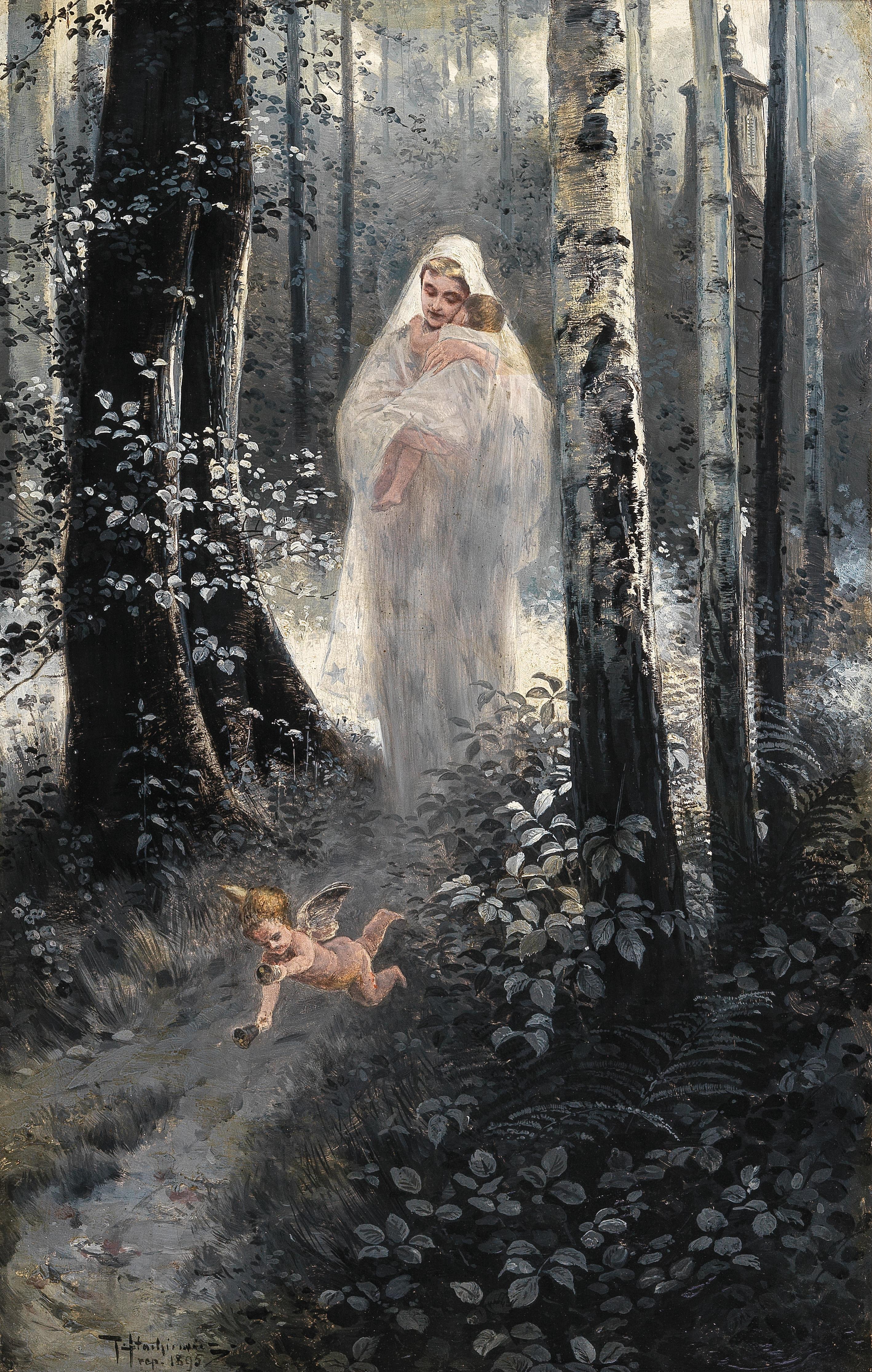 """Piotr Stachiewicz (1858-1938) """"Ave Maria"""",  źródło: Dorotheum"""