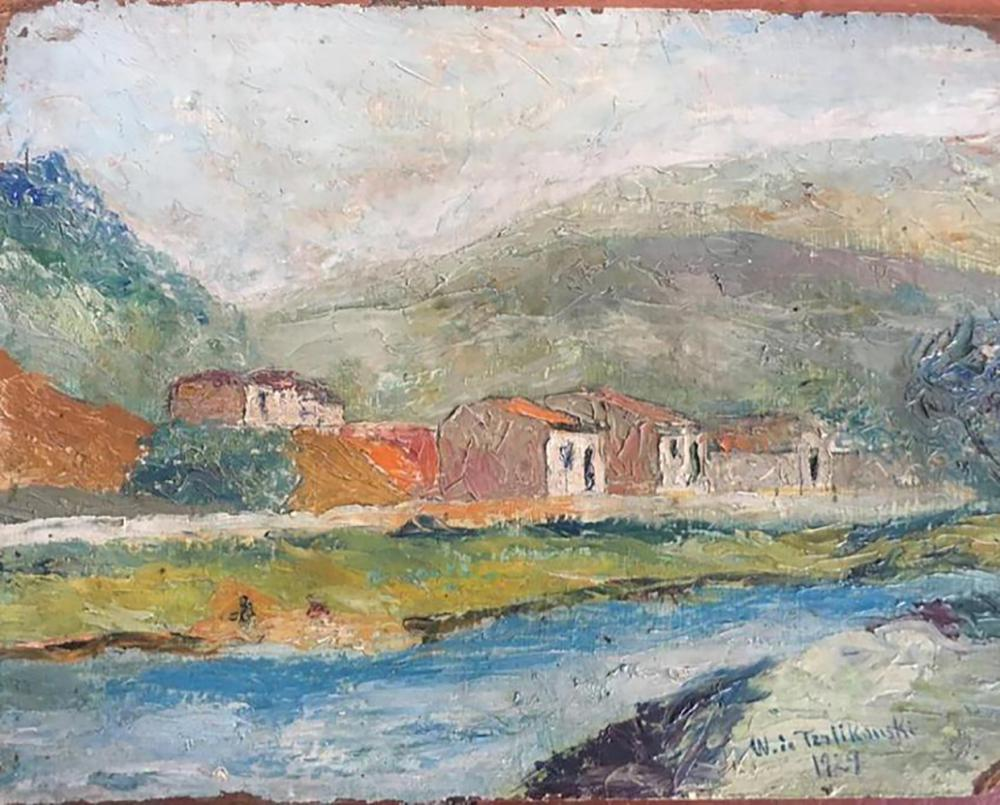 """Włodzimierz Terlikowski (1873-1951) """"Pejzaż francuski"""", źródło: Art Legacy"""