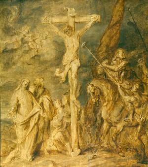 """Anton van Dyck """"Ukrzyżowanie"""", źródło:  Musées royaux des Beaux-Arts de Belgique"""