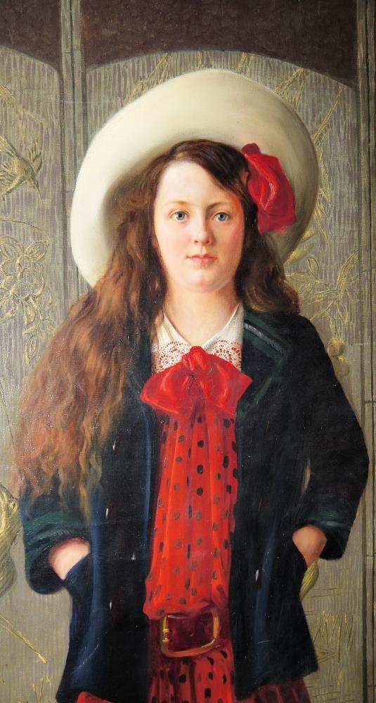 """Leonard Winterowski (1868-1927) """"Portret dziewczynki"""",  źródło: Kunst & Kuriosa"""