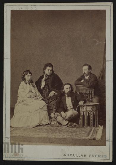 Gropplerowie i Matejkowie na wspólnej fotografii, 1872 rok, źródło: Muzeum Narodowe w Krakowie