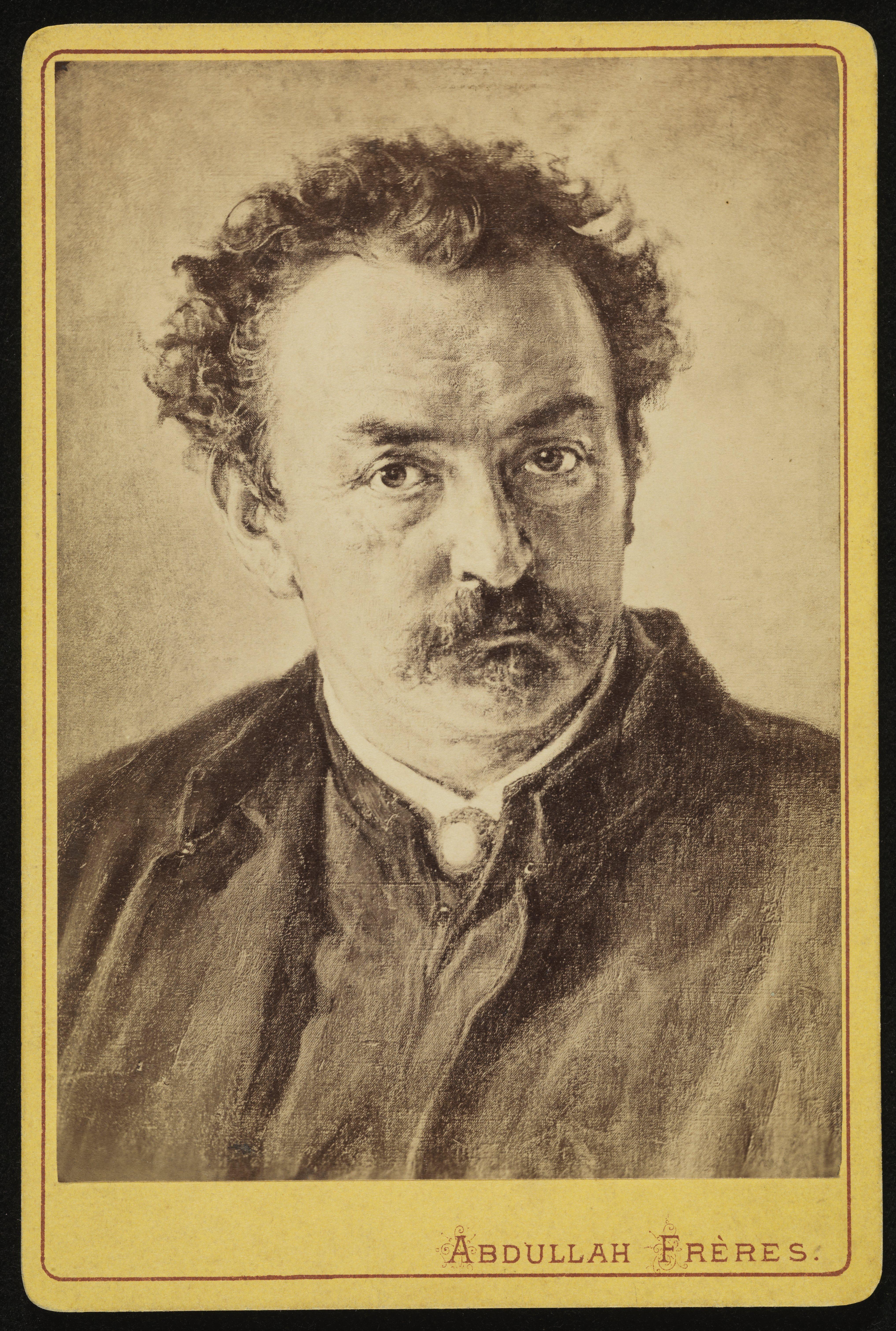 Fotograficzna reprodukcja portretu Henryka Gropplera - karta wizytowa, źródło: Muzeum Narodowe w Krakowie