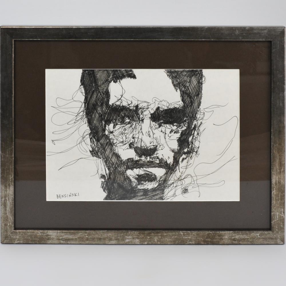 """Zdzisław Beksiński (1929-2005) """"Portret mężczyzny"""", źródło: Akiba Antiques"""