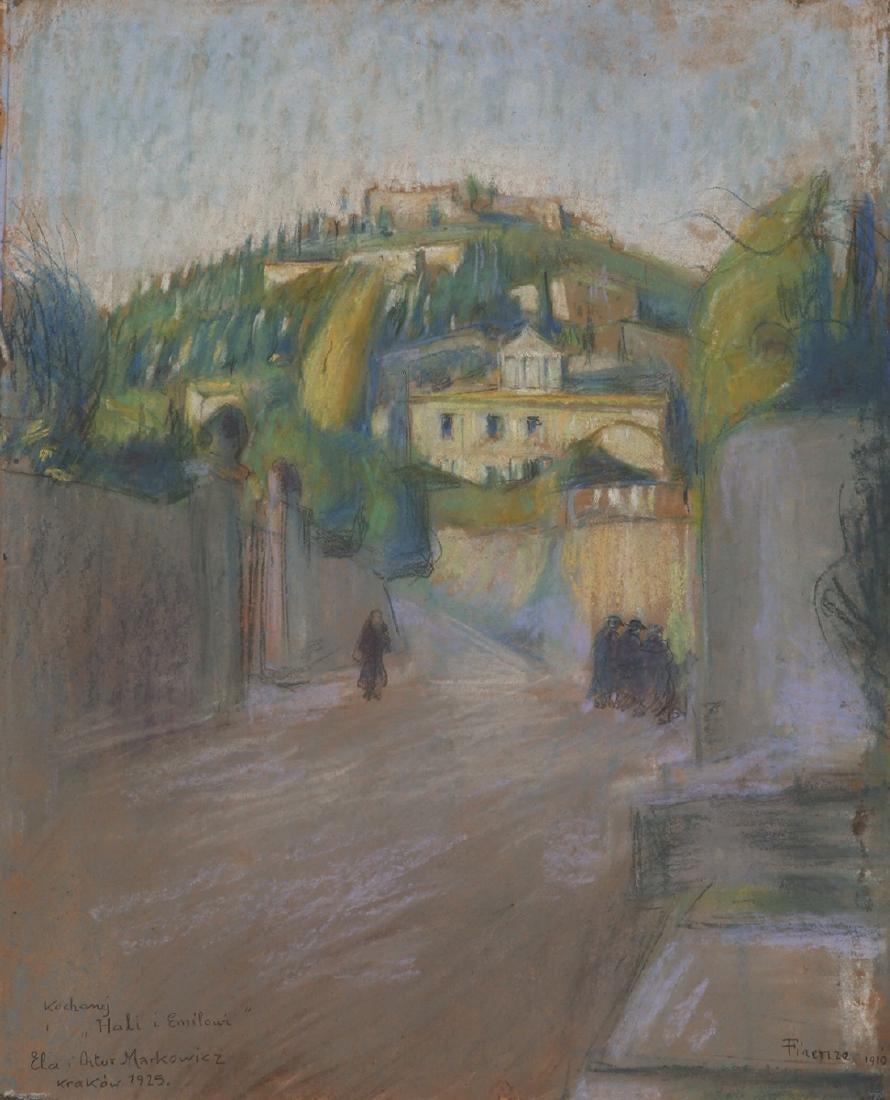 """Artur Markowicz (1872-1934) """"Florencja"""", źródło: Tiroche Auction House"""