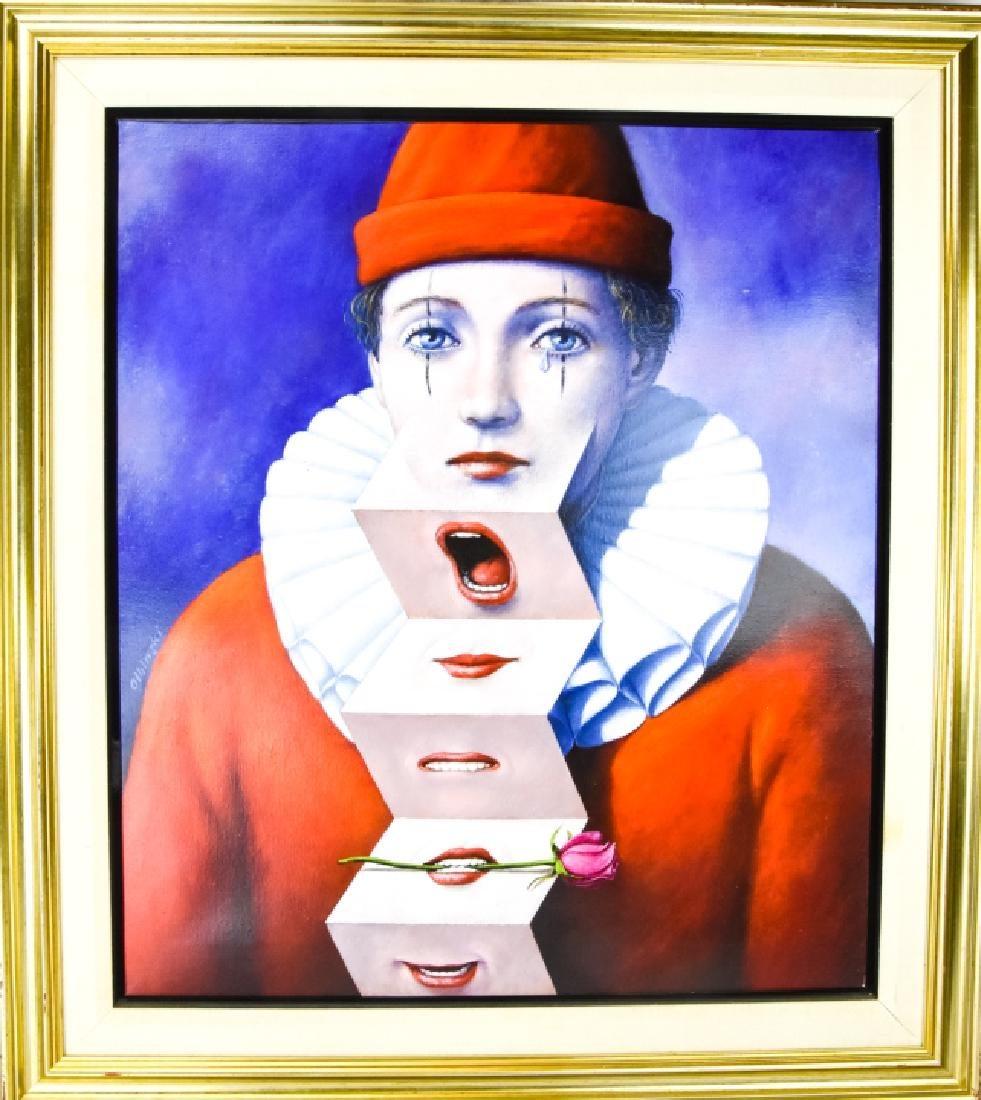 """Rafał Olbiński (ur. 1943) """"Arlekin"""", źródło: Greenwich Auction"""