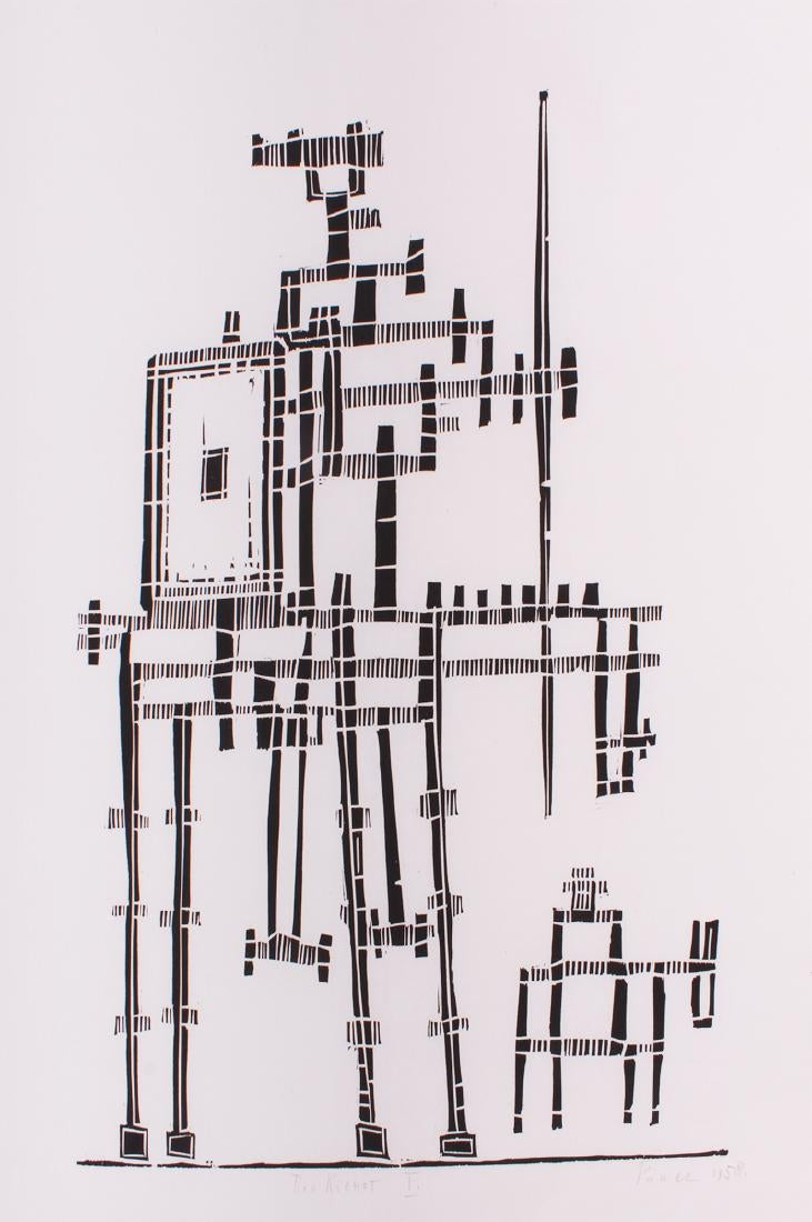 "Jerzy Panek (1918-2001) ""Don Kichot"", źródło: Clark's Fine Art & Auctioneers"