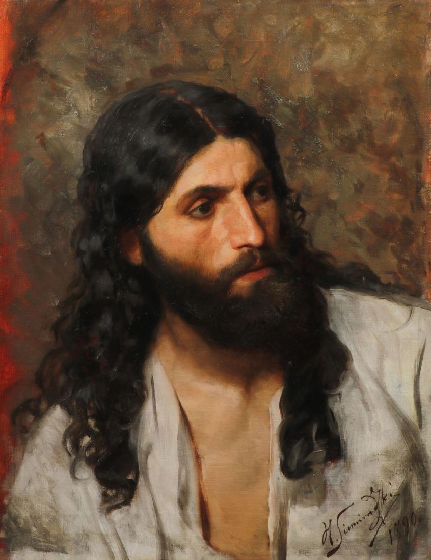 "Henryk Siemiradzki (1843-1902) ""Studium postaci Chrystusa"", źródło: Jackson's Auction"
