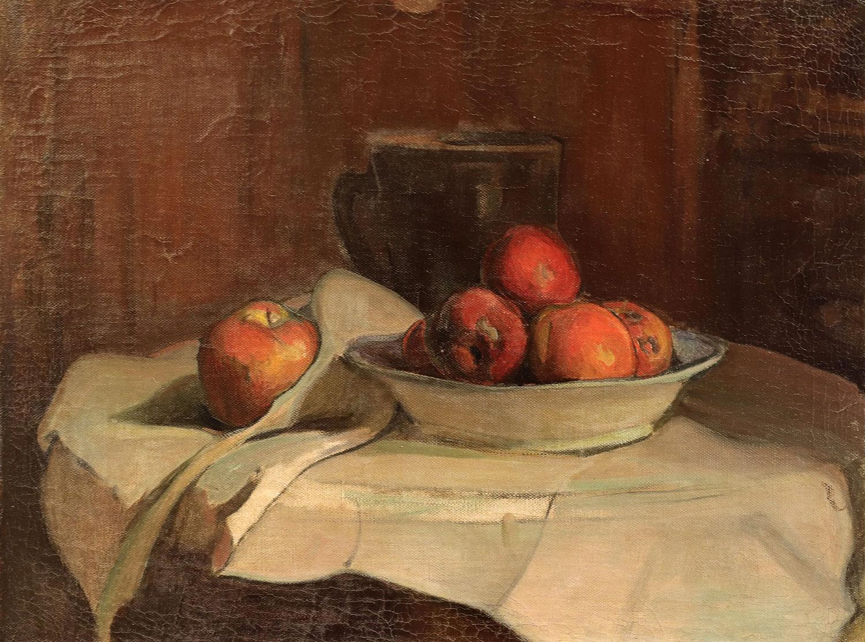 """Władysław Ślewiński (1854-1918) """"Martwa natura z brązowym tłem"""", źródło: Thierry - Lannon et Associés"""