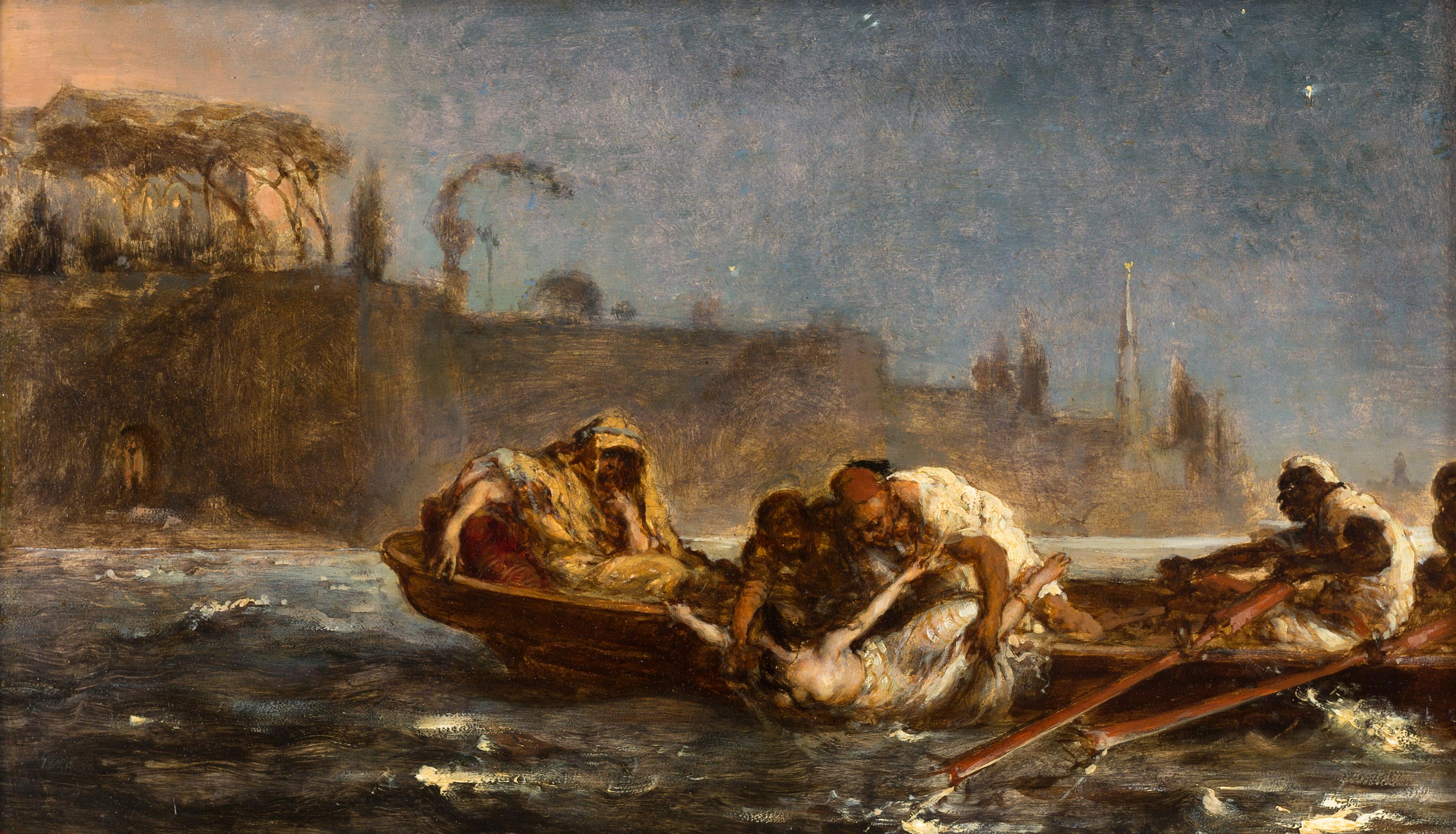 """Jan Matejko """"Utopiona w Bosforze"""", 1872 rok, źródło: Zakład Narodowy im. Ossolińskich"""