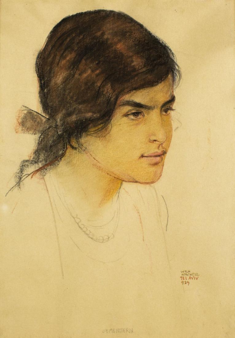 """Wilhelm Wachtel (1875-1942) """"Dziewczyna z Jemenu"""" oraz """"Rabin"""" (praca dwustronna), źródło: Dania Beach"""