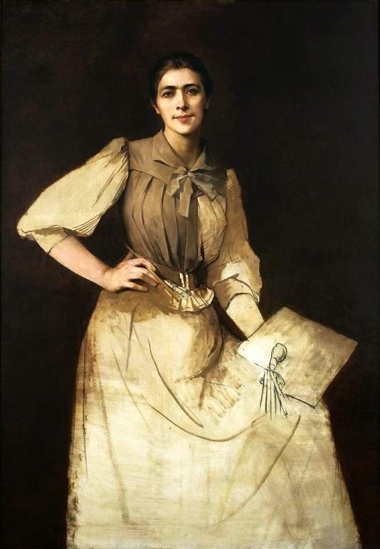 """Anna Bilińska-Bohdanowiczowa """"Portret własny (niedokończony)"""", 1892 rok, źródło: Muzeum Narodowe w Warszawie"""