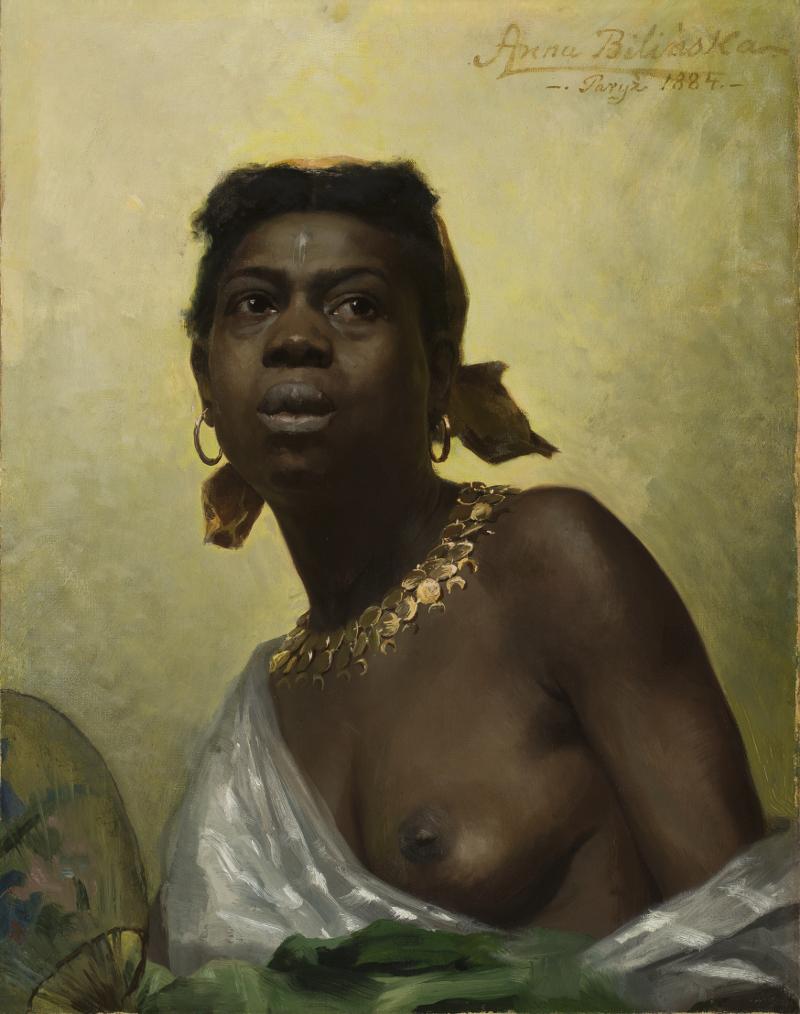 """Anna Bilińska-Bohdanowiczowa """"Murzynka"""", 1884 rok, źródło: Muzeum Narodowe w Warszawie"""