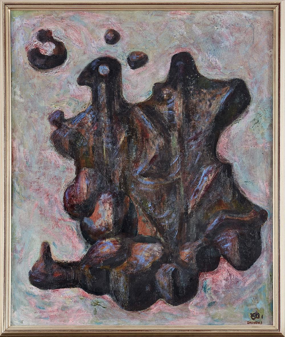 """Stanisław Dawski (1905-1990) """"Kompozycja abstrakcyjna"""", źródło: Uppsala Auktionskammare"""