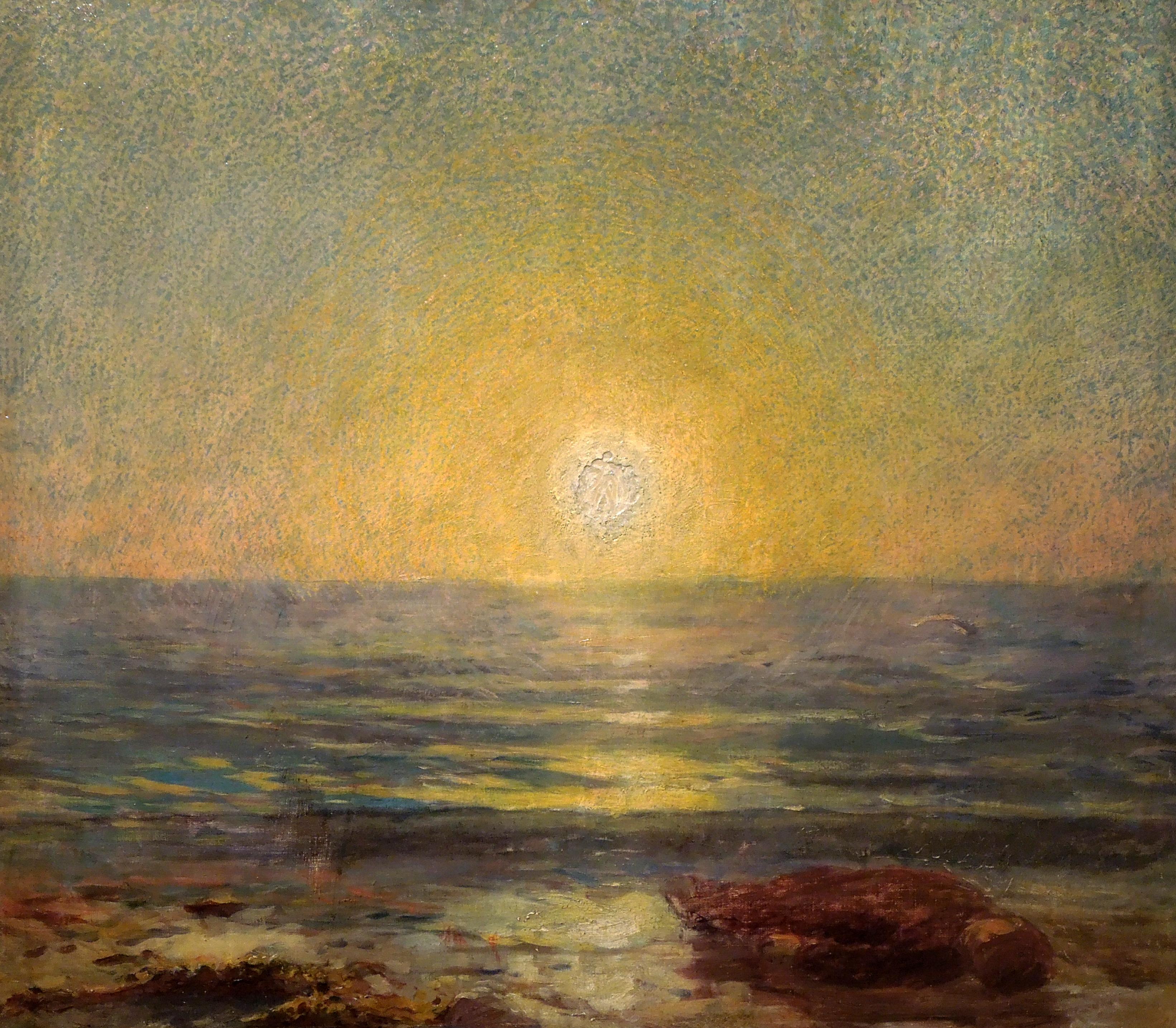 """Ludwik de Laveaux """"Zachód słońca nad morzem"""", 1892 rok, źródło: Muzeum Narodowe we Wrocławiu"""