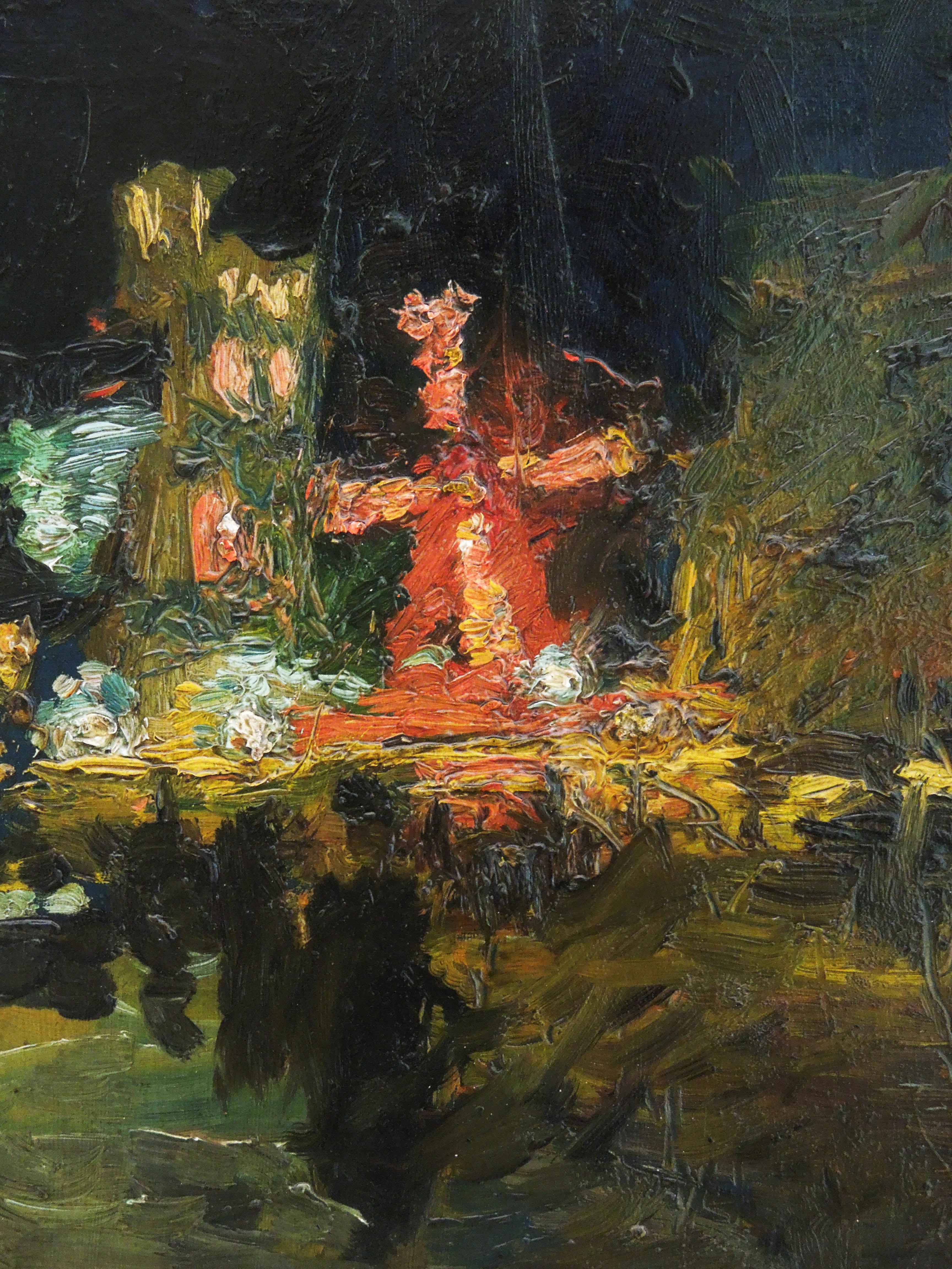 """Ludwik de Laveaux """"Moulin Rouge nocą"""", 1892 rok, źródło: Muzeum Narodowe w Poznaniu"""