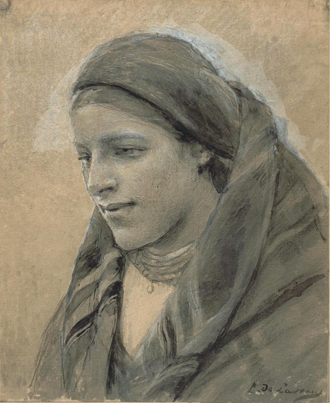 """Ludwik de Laveaux """"Marysia Mikołaczykówna, narzeczona artysty, siostra Panny Młodej z 'Wesela' Wyspiańskiego"""", 1892 rok, źródło: własność prywatna"""