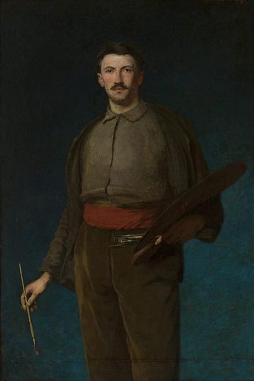 """Ludwik de Laveaux """"Autoportret"""", 1892 rok, źródło: Muzeum Narodowe w Warszawie"""