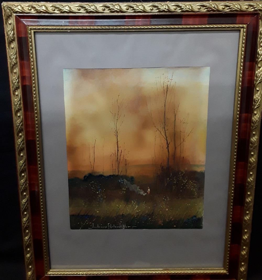 """Juliusz Holzmuller (1876-1932) """"Jesienne ognisko"""", źródło: Marlborough Auction Rooms Ltd."""