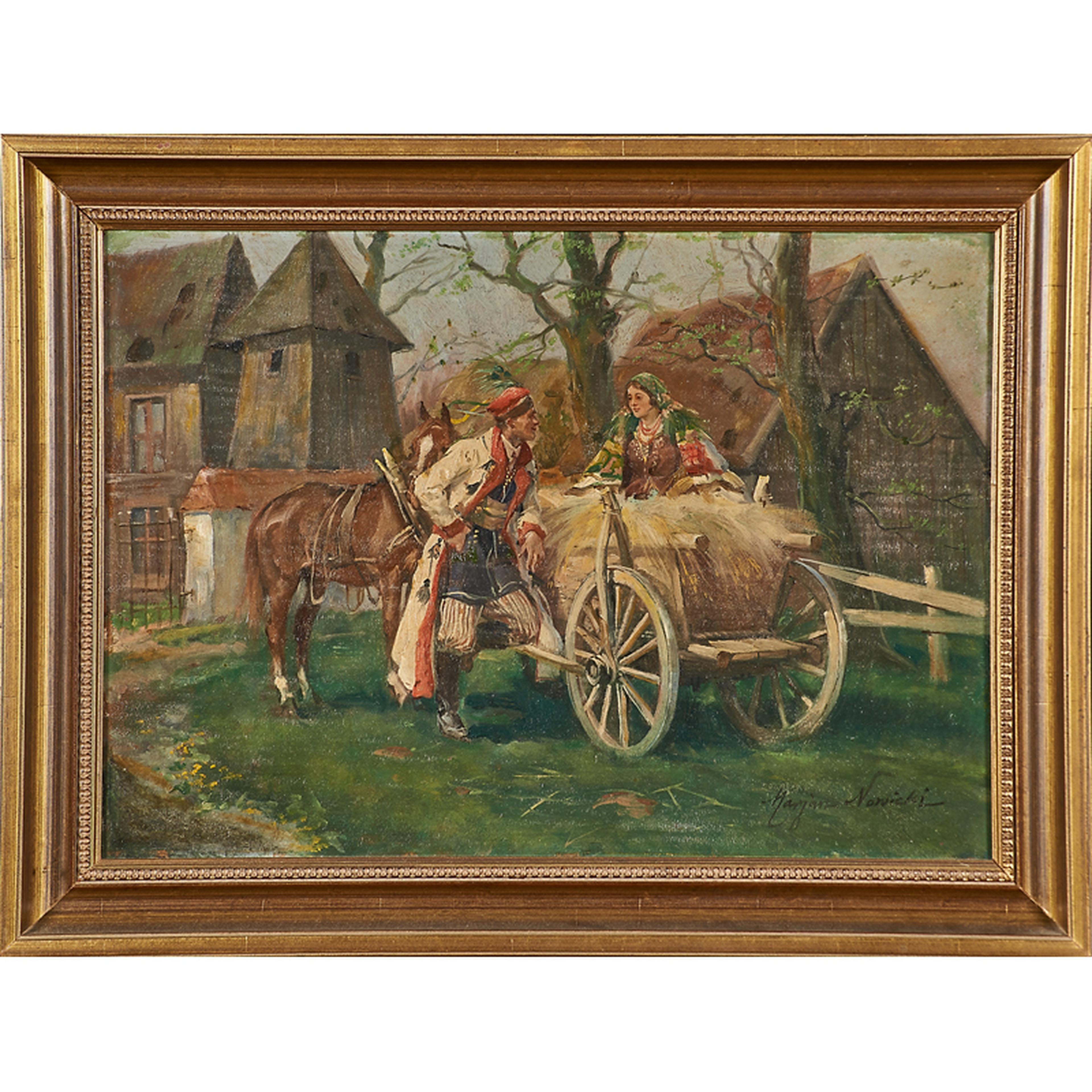 """Marian Nowicki (1904 - po 1945) """"Zaloty"""", źródło: Rago Arts and Auction Cente"""