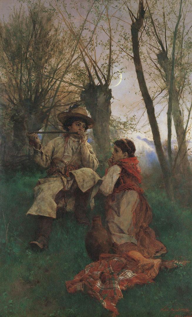 """Witold Pruszkowski """"Sielanka"""", 1880 rok, źródło: Muzeum Narodowe w Krakowie"""