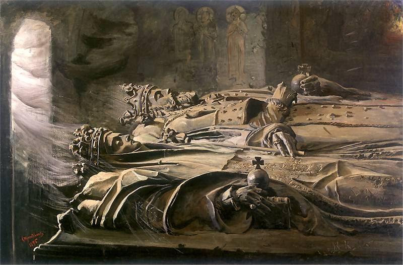 """Leon Wyczółkowski """"Sarkofagi"""", 1895 rok, źródło: Muzeum Narodowe w Poznaniu"""