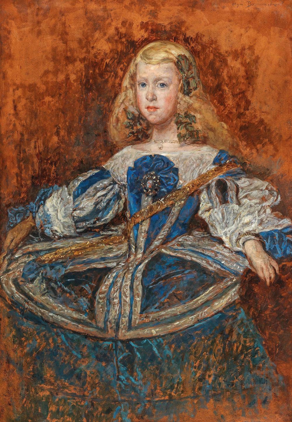 """Olga Boznańska (1865-1940) """"Infantka Małgorzata Teresa Habsburżanka"""", źródło: Dorotheum"""