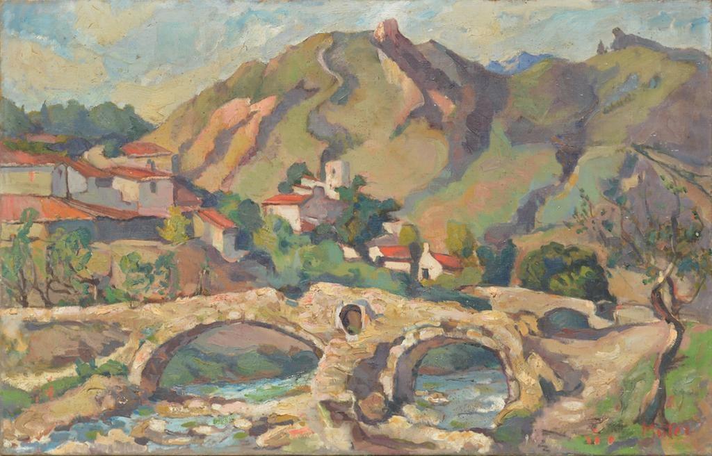 "Mela Muter (1876-1967) ""Pejzaż znad Rodanu"", źródło: Art Torg"