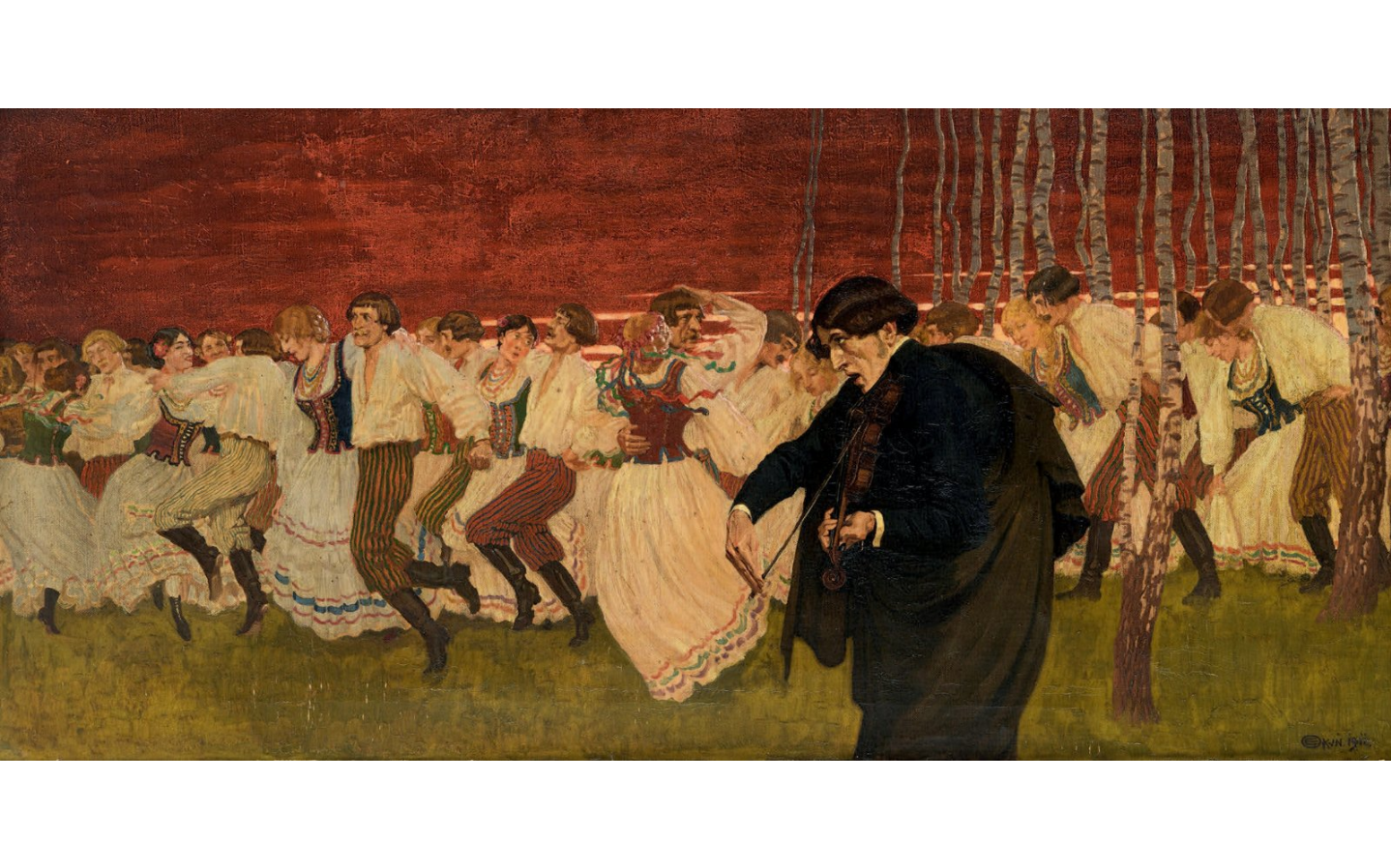 "Edward Okuń (1872-1945) ""Mazurek Chopina"", źródło: Oger-Blanchet"