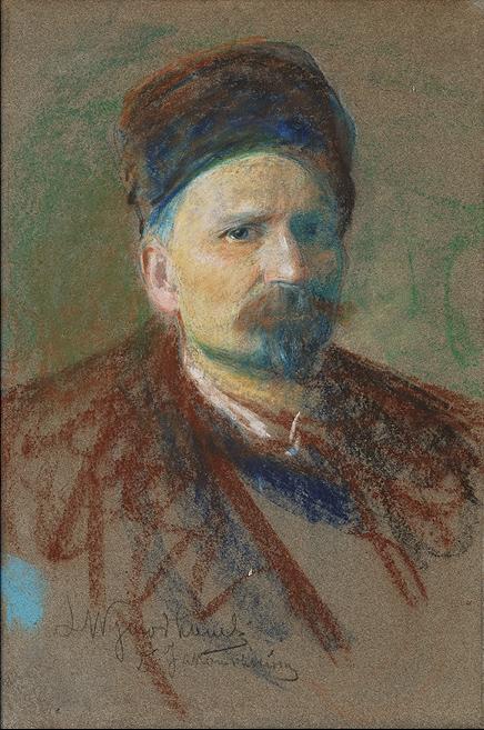 """Leon Wyczółkowski """"Autoportret"""", lata 90. XIX wieku, źródło: Agra-Art"""