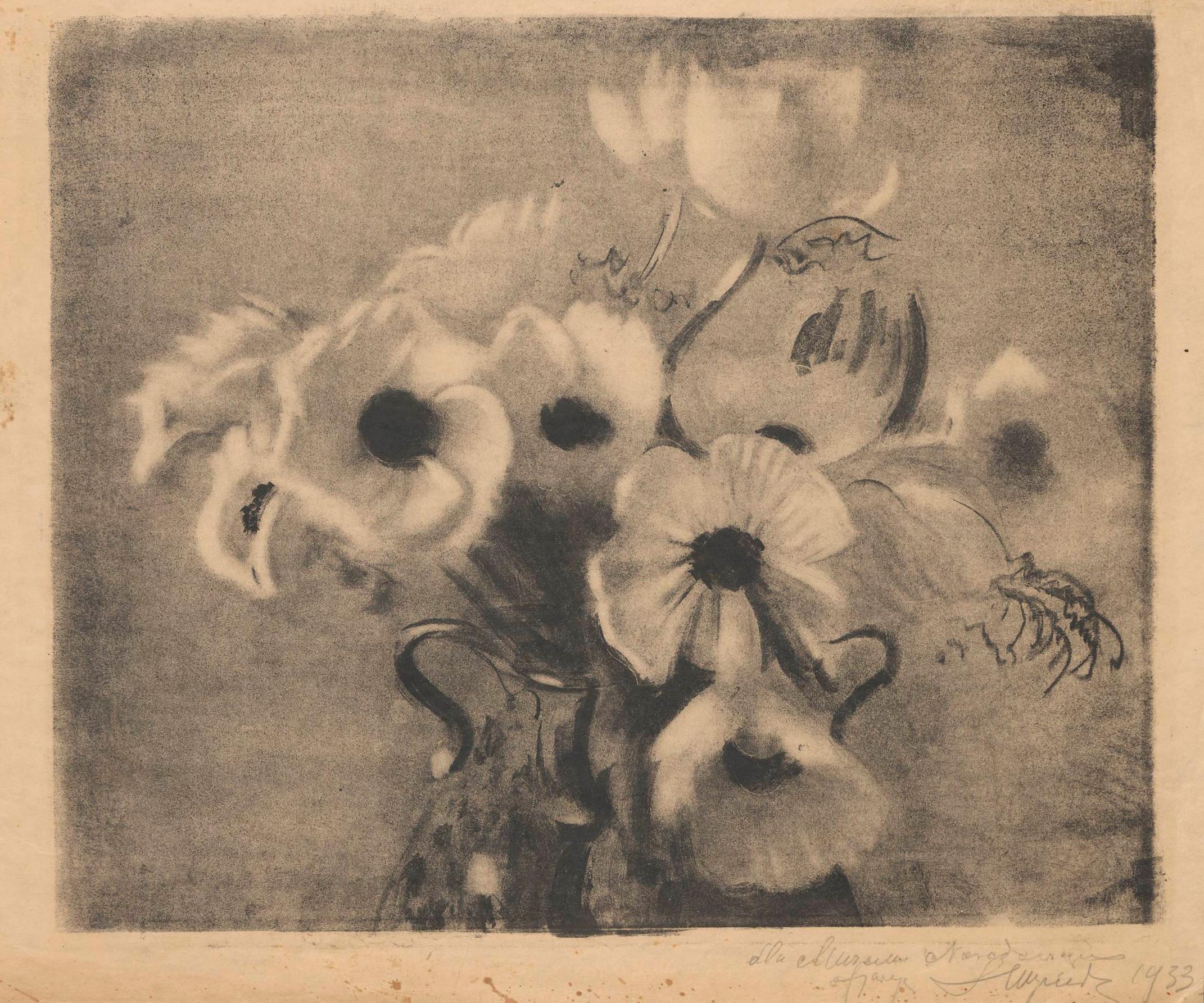 """Leon Wyczółkowski """"Anemony """", po 1924 roku, źródło: Muzeum Narodowe w Warszawie"""
