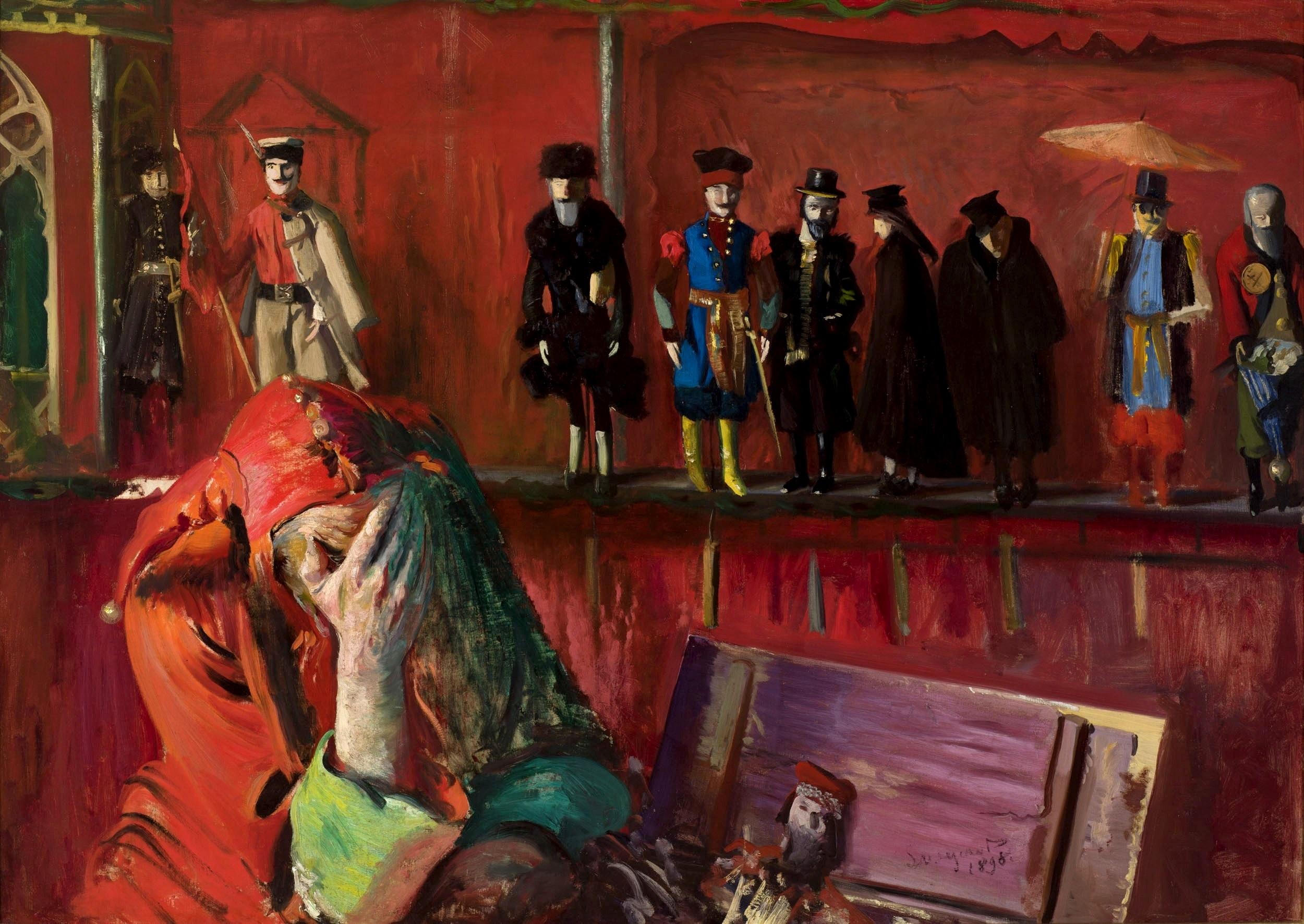 """Leon Wyczółkowski """"Stańczyk (Szopka)"""", 1898 rok, źródło: Muzeum Narodowe w Krakowie"""