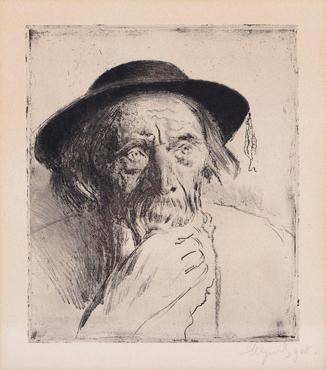 """Leon Wyczółkowski """"Szymon Tatar"""", 1908 rok, źródło: Sopocki Dom Aukcyjny"""