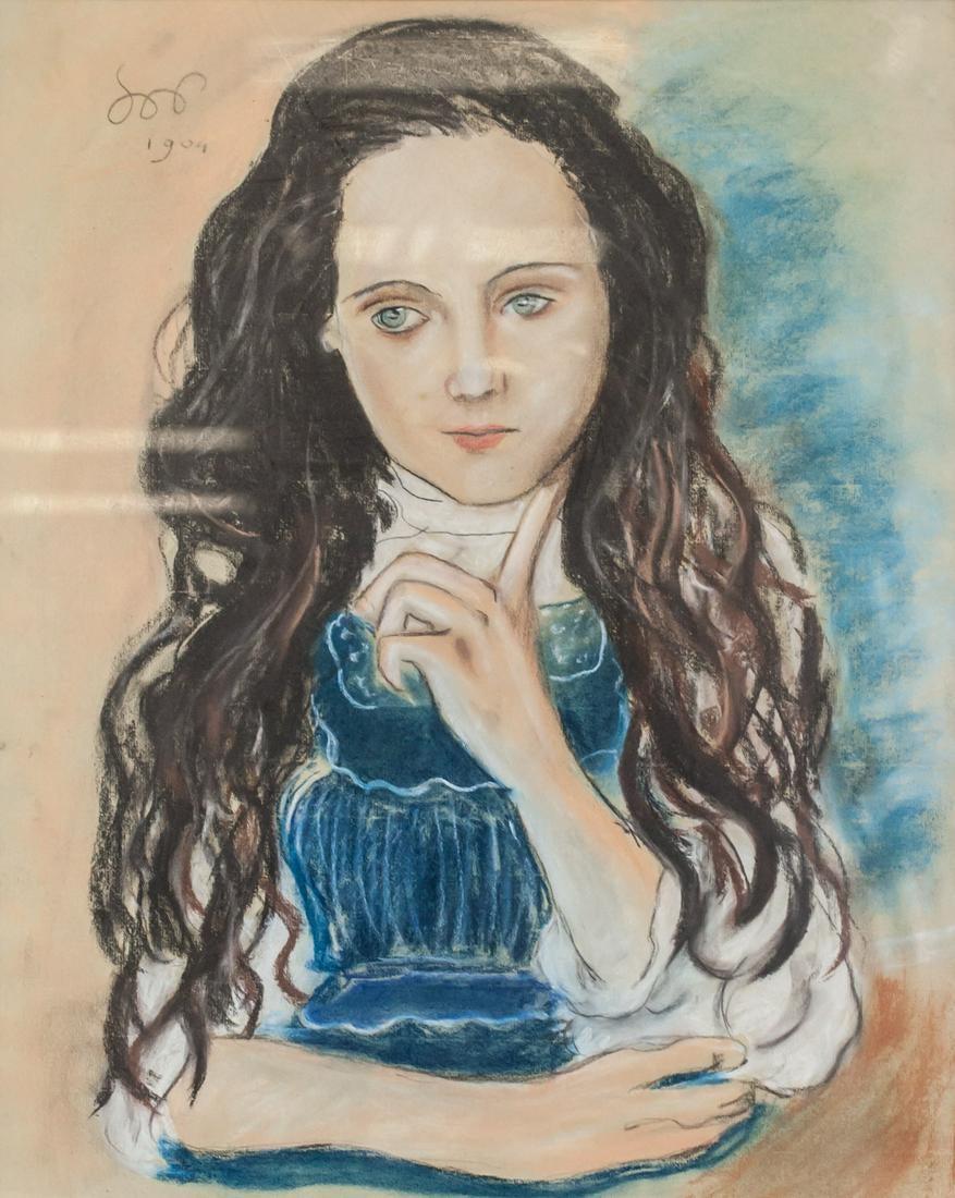 """Stanisław Wyspiański (1869-1907) """"Portret dziewczynki"""", źródło: 888 Auctions"""