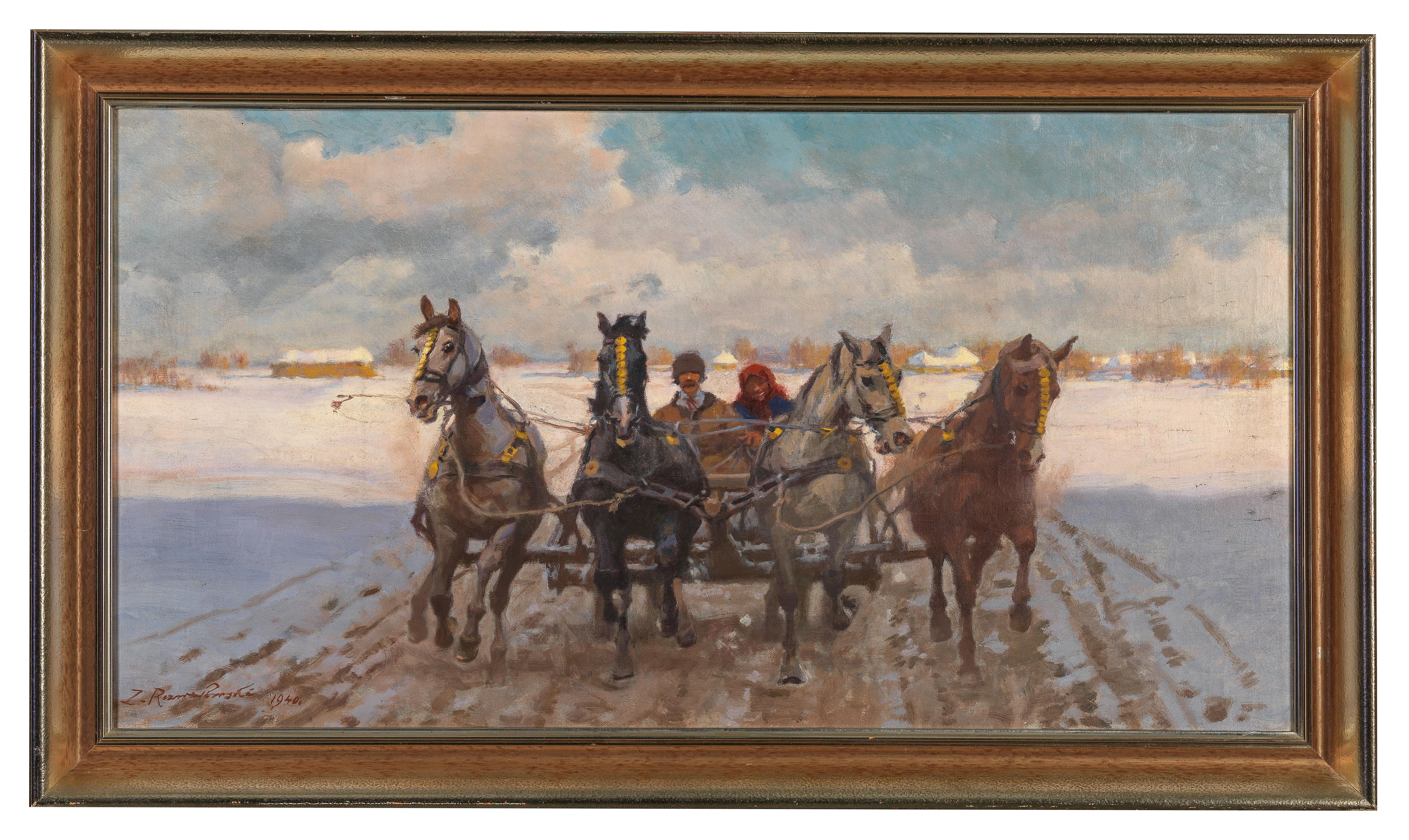 """Zygmunt Rozwadowski (1870-1950) """"Czwórka"""", źródło: Dorotheum"""