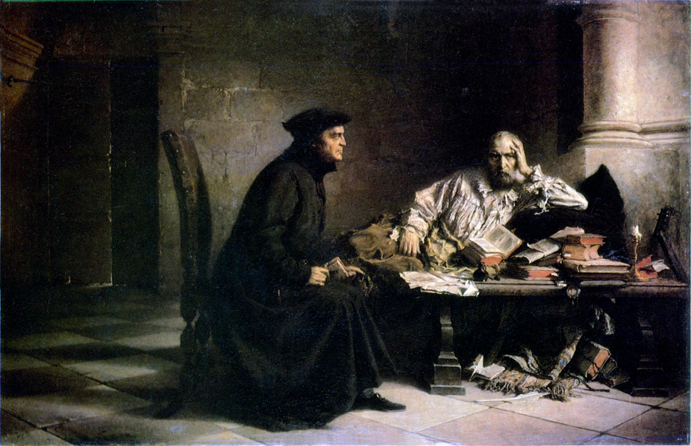 """Wilhelm Leopolski """"Zgon Acerna"""", lata 1865-1867, źródło: Lwowska Galeria Sztuki"""