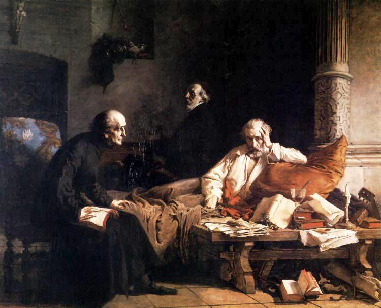 """Wilhelm Leopolski """"Zgon Acerna"""", lata 1865-1867, źródło: Muzeum Narodowe we Wrocławiu"""