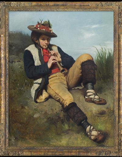"""Tadeusz Ajdukiewicz (1852-1916) """"Chłopiec grający na flecie"""", źródło: Agra-Art"""